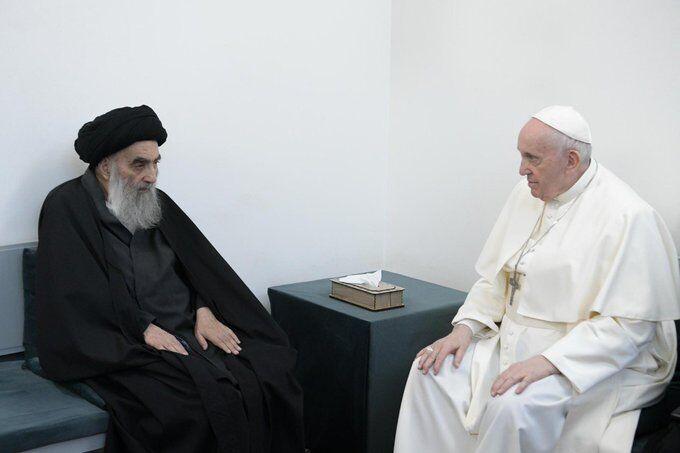 ارزشمندی ملاقات جناب پاپ با آیت الله سیستانی