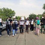 تجمع گروهی از اهالی رسانه در مقابل سازمان محیط زیست