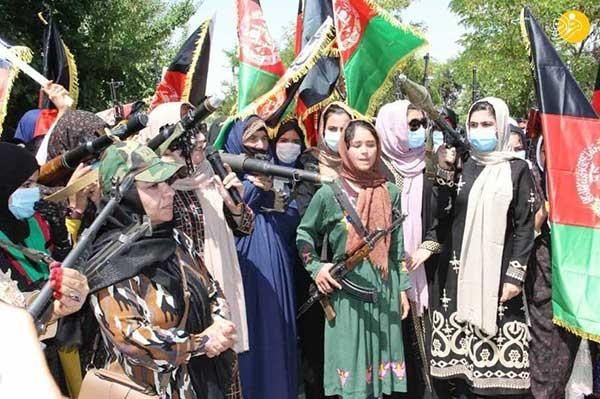 زنان افغانستان برای مقابله با تروریست های طالبان مسلح شدند